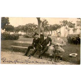 Cartão Postal Antigo Rio De Janeiro Senhores Praça Mauá 1922