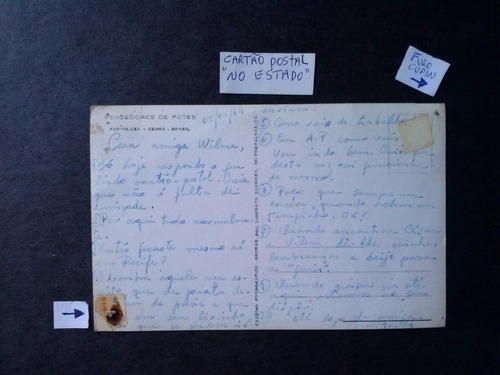 cartao postal, vendedores de potes em fortaleza / ceara