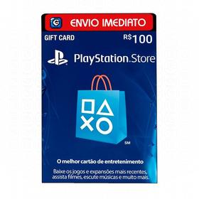 Cartão Psn Playstation Brasileiro R$100 Reais Ps3 Ps4 Plus