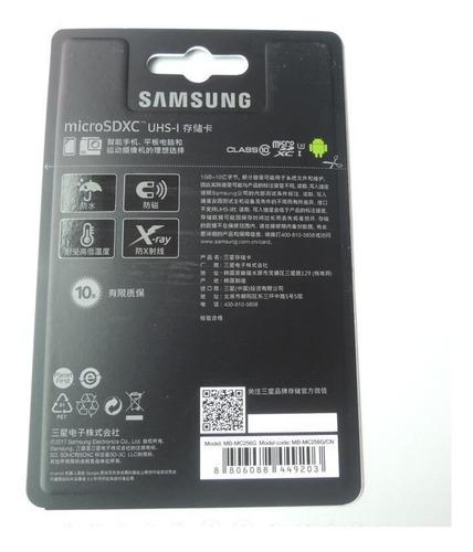 cartao samsung micro sd evo plus 100mb/s 4k 256gb lacrado r8