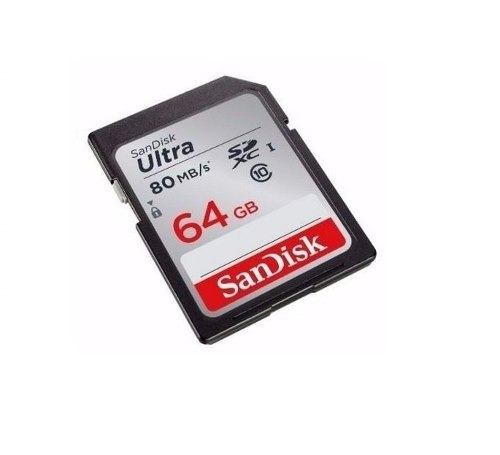 cartao sandisk sdxc ultra 80mb/s classe 10 64gb sd original
