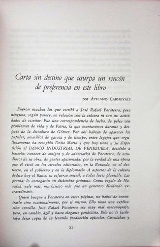 cartas a josé rafael pocaterra. cartas literarias.