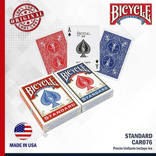 cartas baraja bicycle standard - car 076 banimported