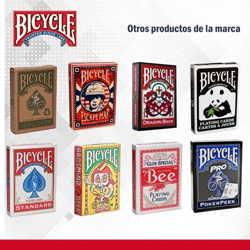 cartas baraja original bicycle bee standard. rojo y azul