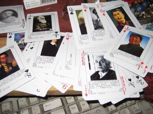 cartas - barajas - personajes mundiales - pocker japonesas