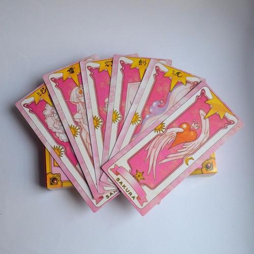 cartas clow sakura card captors baralho - marrom