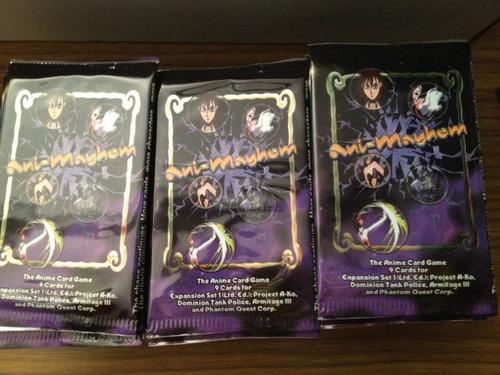 cartas de anime  ani- amyhem sobre cellado