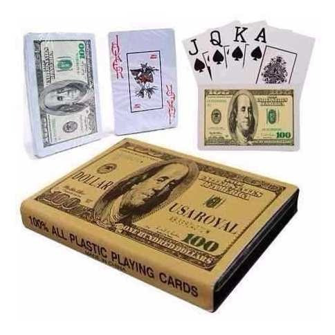 cartas de baralho poker cédula dólar frete gratis