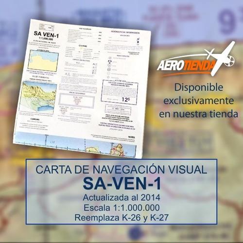 cartas de navegación visual venezuela - original