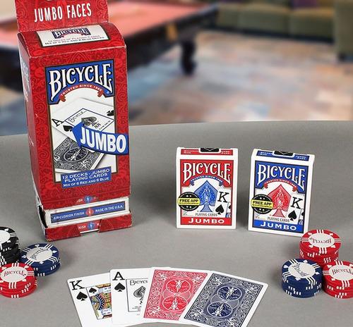 cartas de poker bicycle  jumbo originales azul