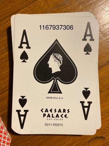 cartas de póker originales caesars palace