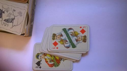 cartas de pokeri antiguas de 5cm x 3cm