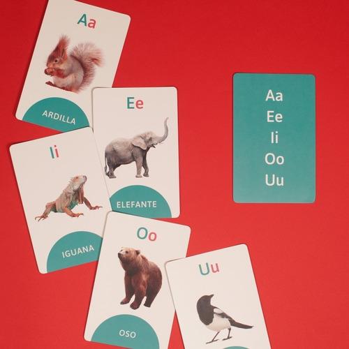 cartas didácticas infantiles con el abecedario y animales