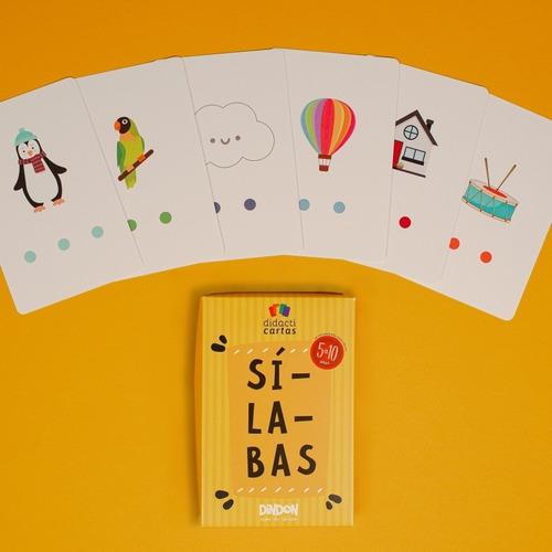 cartas didácticas para aprender y practicar las sílabas