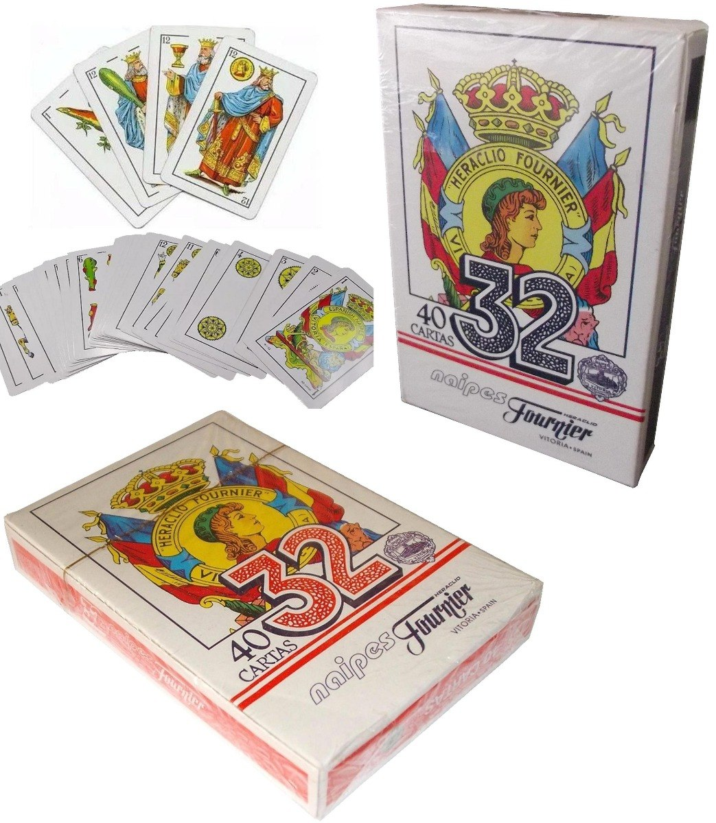 Cartas Espanolas Juego De 40 Mazo N 32 Heraclio Fournier Bs 2 20
