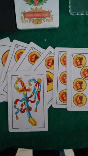 cartas españolas x50c 100% plastico premium dos mazos
