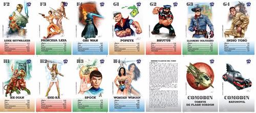 cartas héroes clásicos comic universo retro he-man dc marvel
