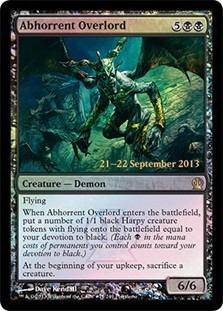 cartas magic abhorrent overlord (foil) lista premiun yawg's