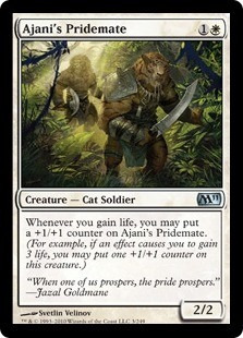 cartas magic ajani's pridemate (sp) lista premiun yawg's