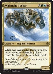 cartas magic avalanche tusker  lista premiun yawg's