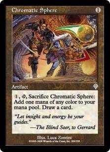 cartas magic chromatic sphere lista premiun yawg's