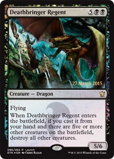 cartas magic deathbringer regent (foil) lista premiun yawg's
