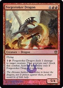 cartas magic forgestoker dragon (foil) lista premiun yawg's