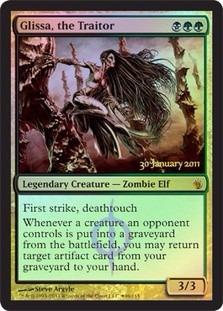 cartas magic glissa, the traitor (foil) premiun yawg's