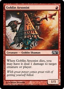 cartas magic goblin arsonist lista premiun yawg's