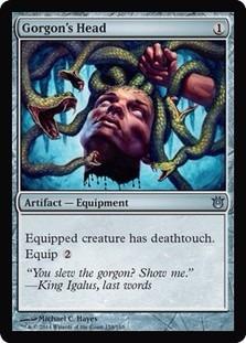 cartas magic gorgon's head lista premiun yawg's
