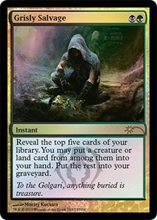 cartas magic grisly salvage (foil) premiun yawg's