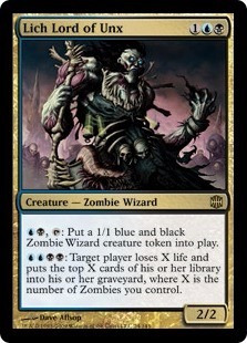 cartas magic: lich lord of unx nm arb !!! mtg bsas