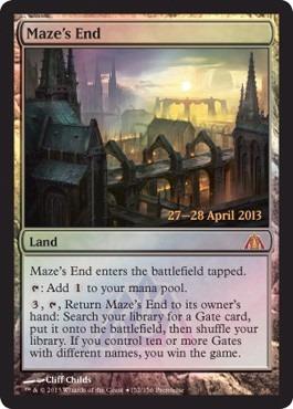 cartas magic maze's end (foil) premiun yawg's