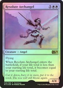 cartas magic resolute archangel (foil) lista premiun yawg's