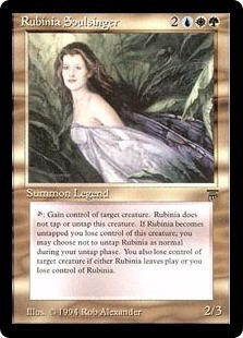 cartas magic rubinia soulsinger lista premiun yawg's