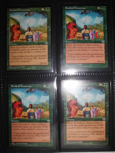 cartas magic - seeds of innocence x4 6000