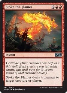 cartas magic stoke the flames lista premiun yawg's