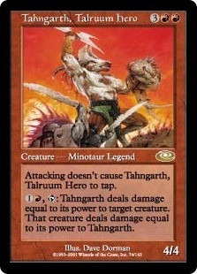 cartas magic tahngarth, talruum hero lista premiun yawg's