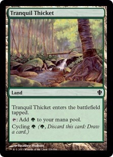 cartas magic tranquil thicket lista premiun yawg's