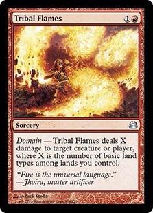 cartas magic tribal flames (u) lista premiun yawg's