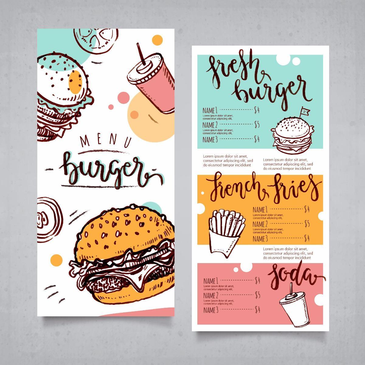 Resultado de imagen para diseño del menú