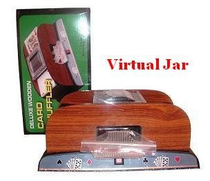cartas + mezclador de cartar automati+2 mazos grofados+4pila