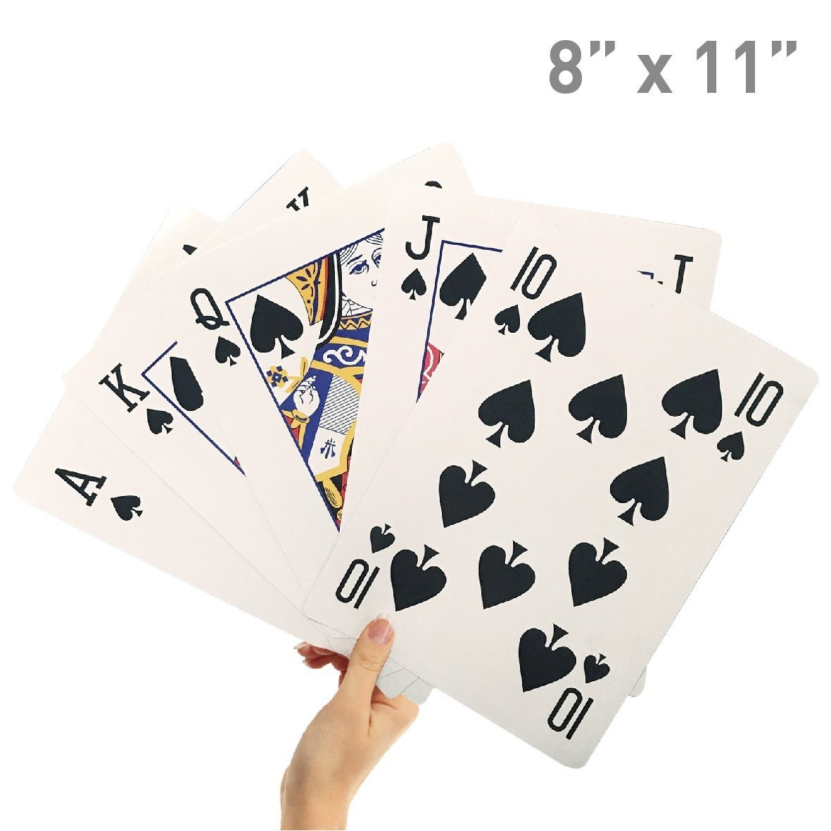 Cartas Naipe Poker Gigante Juego Mesa Familiar 20 X 28 Cm