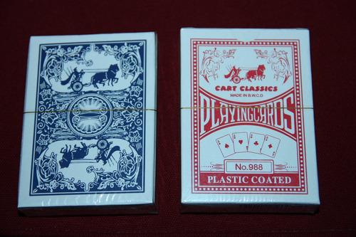 cartas - naipes de poker plastificadas(no españolas) martins