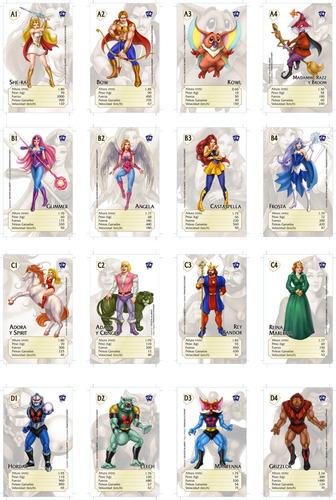 cartas naipes she-ra he-man motu universo retro filmation