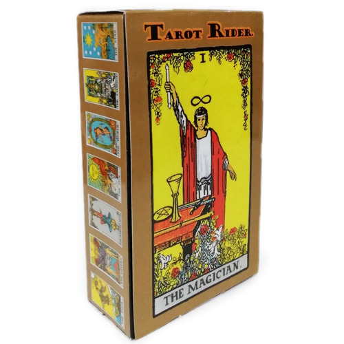 cartas plastificadas tarot rider mini con manual