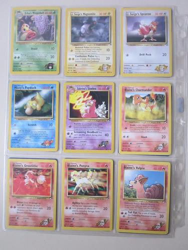 cartas pokemon blaine vulpix gym heroes