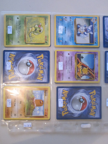 cartas pokemon caterpie base set