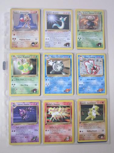 cartas pokemon erika gloom gym heroes