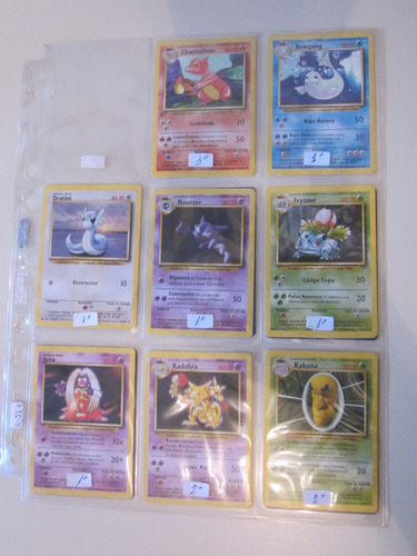 cartas pokemon kakuna base set